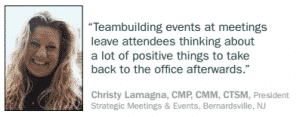 As long as a company is in business and has at least two employees, they need teambuilding activities to get the most value of one constant, paid resource: employees. Teambuilding events leave attendees thinking about positive things to take back to the office afterward and are the energizing path to engaged employees.