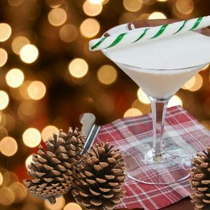 Light, sweet, festive and fun to drink, this peppermint treat was a hit at a client's holiday party. The best holiday party drink: Candy Cane Cocktail added
