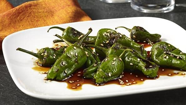 Celebrity Chef Beau MacMillan hosted our VIP group for an unforgettable behind the scenes culinary experience. These Shishito peppers were one of the dishes