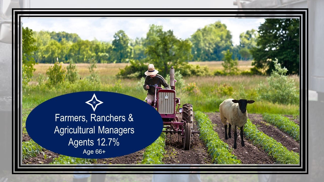 Farmers, ranchers, and cultural managers work the longest