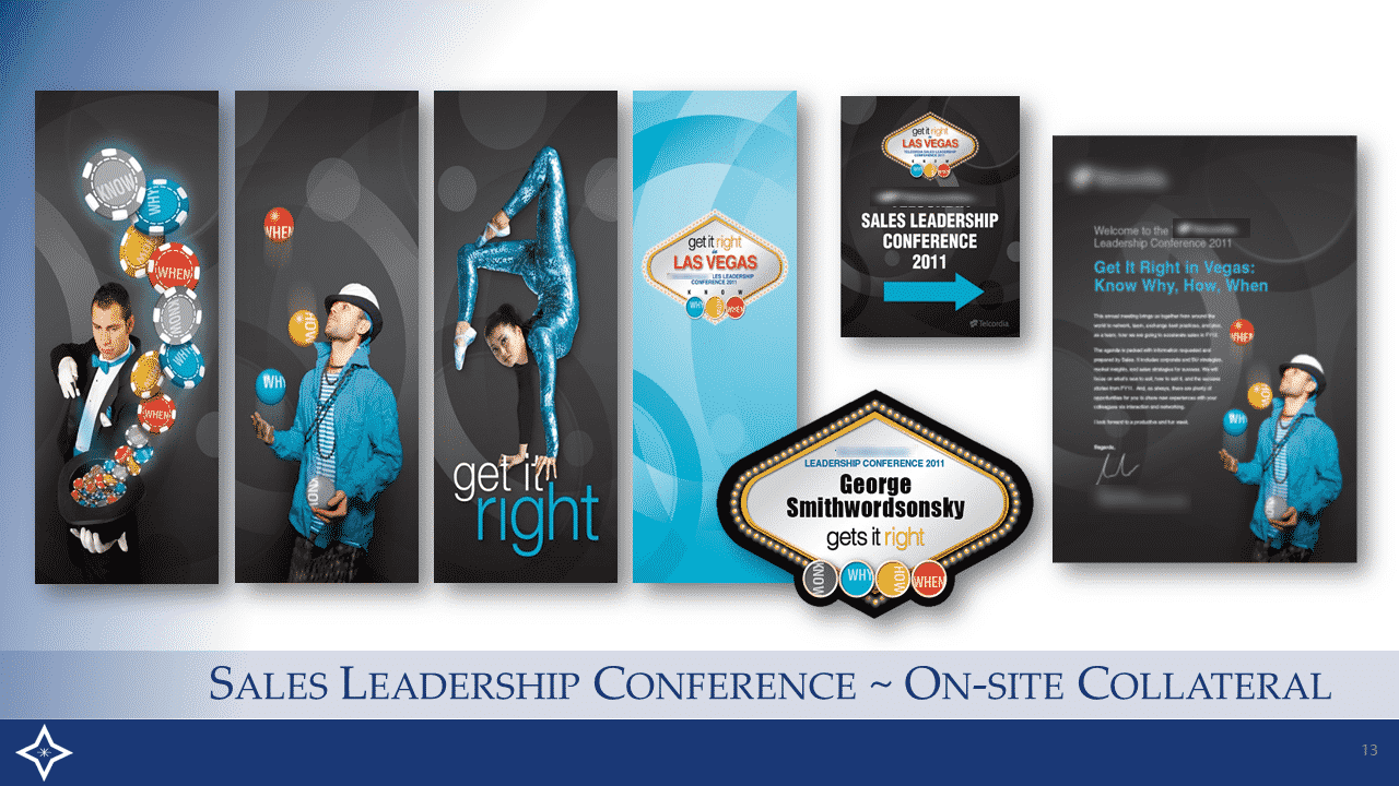 Sales Leadership Conference - Onsite Collateral