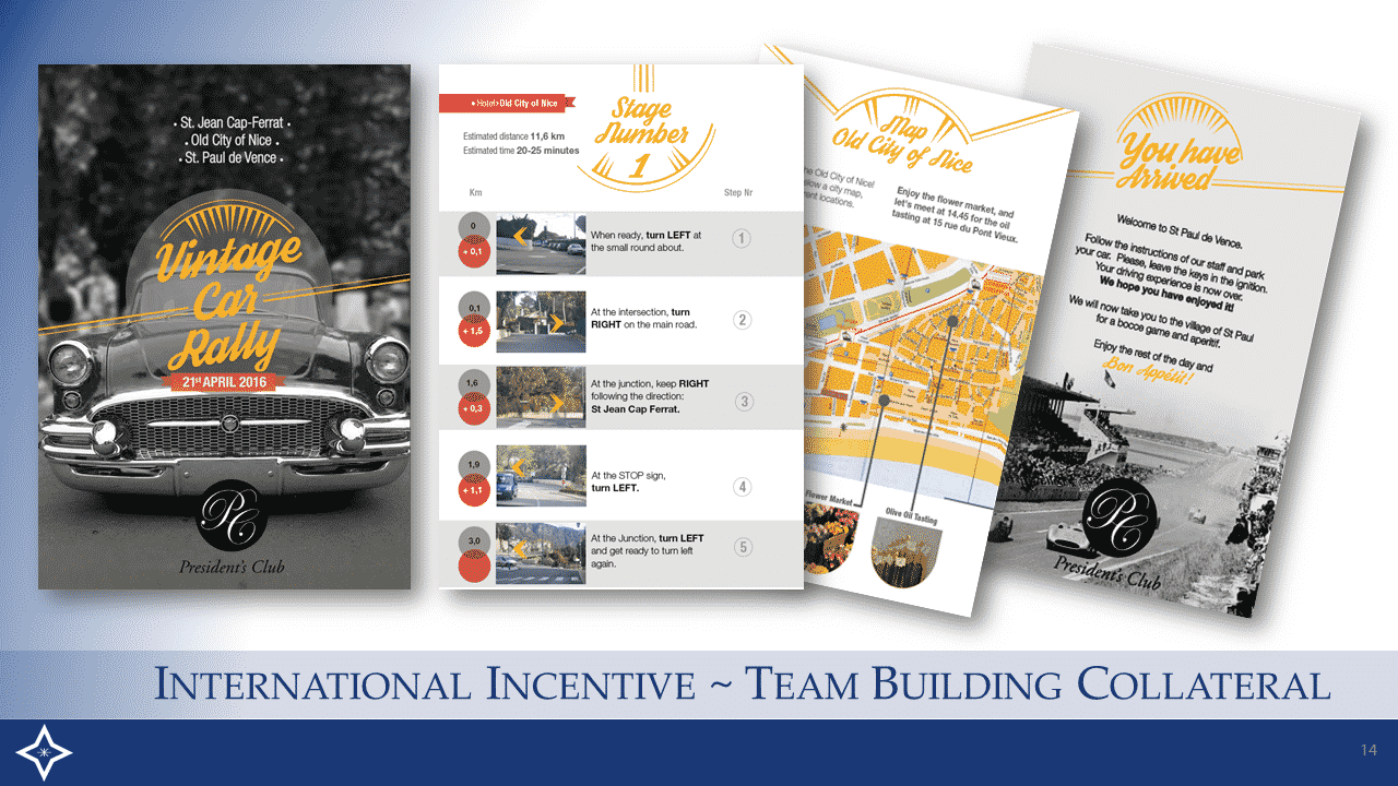Corporate International Incentive - Team Building Collateral