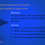 You are asked to plan a meeting for a VP of another department. What is the first question you ask?