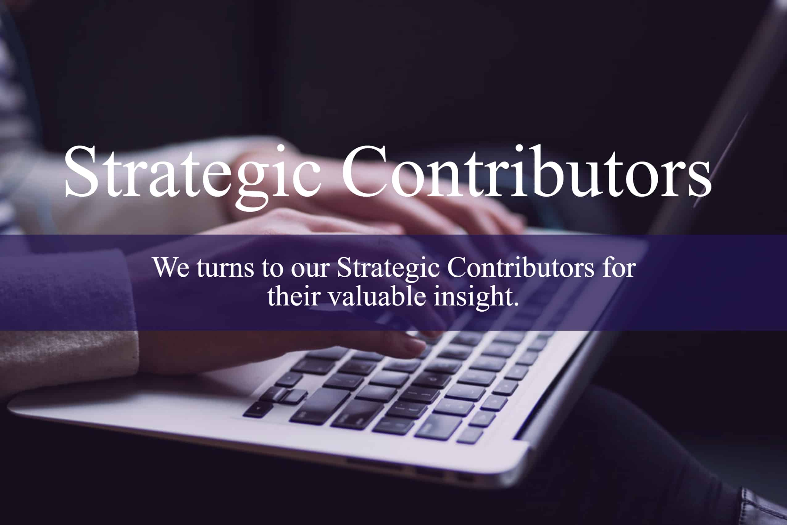 Strategic Meetings & Events Strategic Contributors